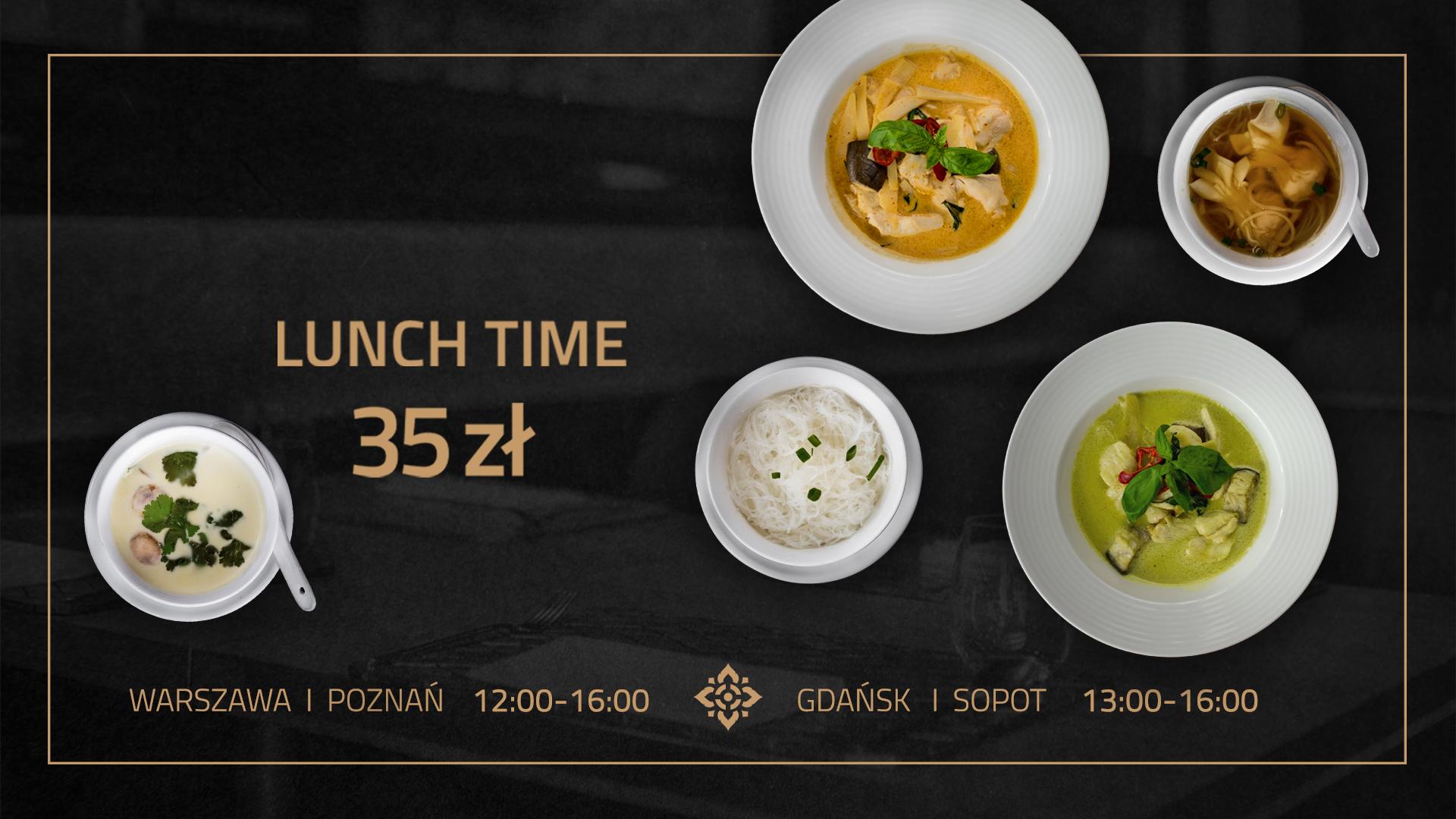 Thai Thai Lunch menu